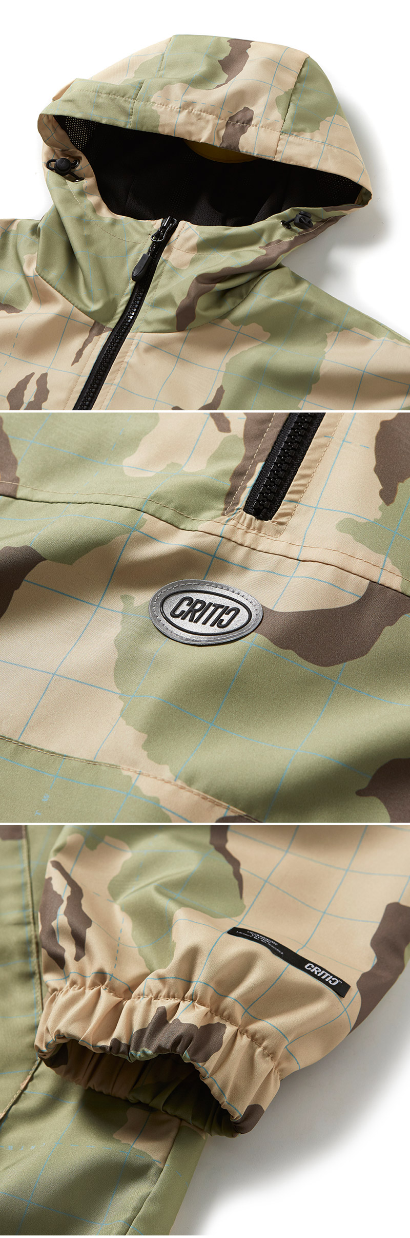 크리틱(CRITIC) ANORAK JACKET(CAMO)_CTOGPJP03UK1