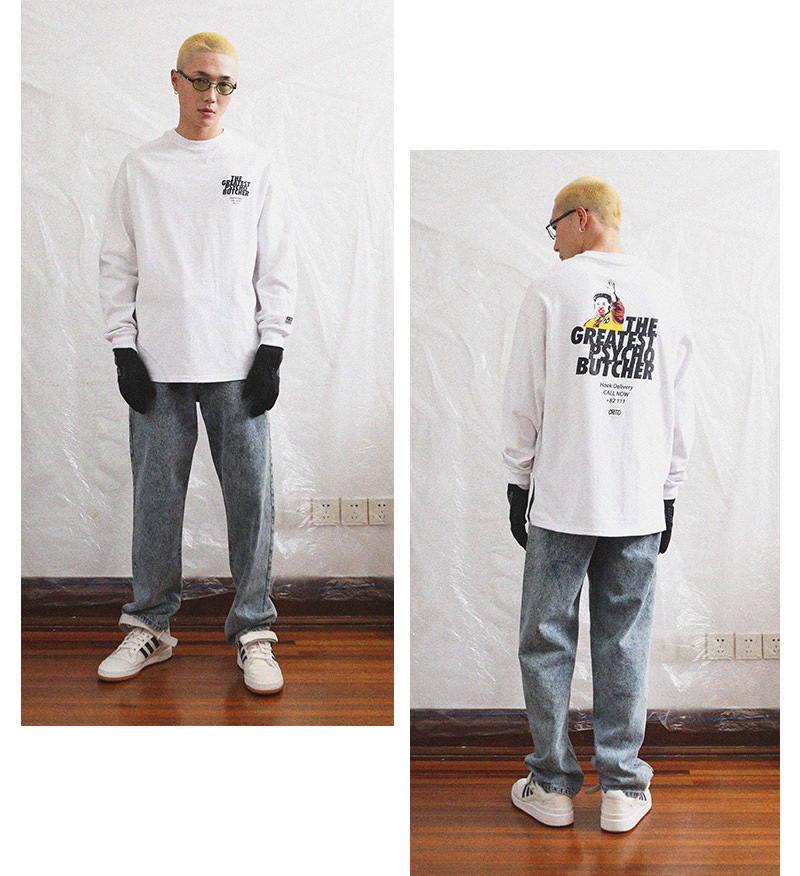 크리틱(CRITIC) PSYCHO BUTCHER LONG SLEEVE T-SHIRT(WHITE)_CTOGPRL01UC2