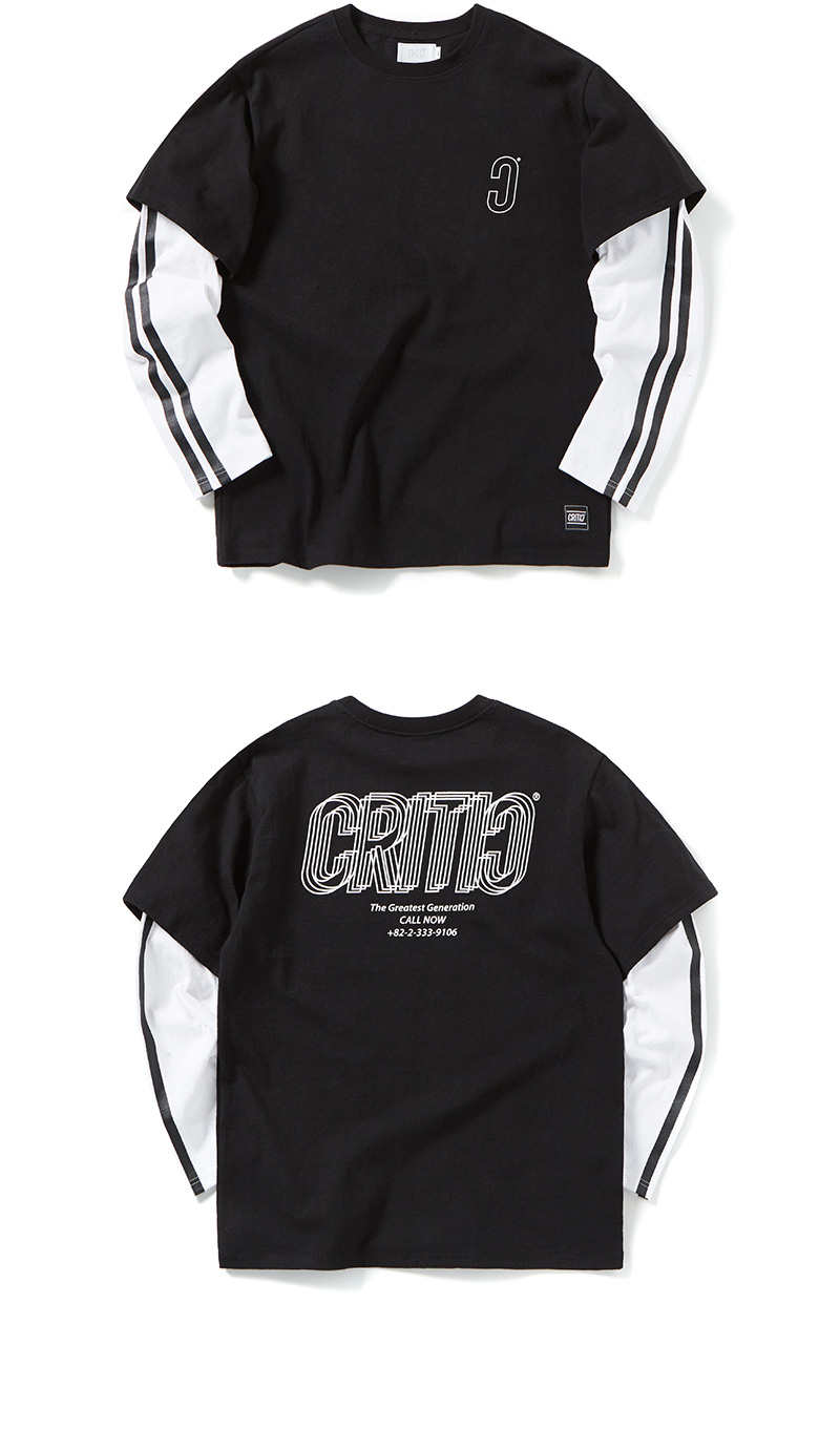 크리틱(CRITIC) HALF LONG SLEEVE T-SHIRT(BLACK)_CTOGPRL06UC6