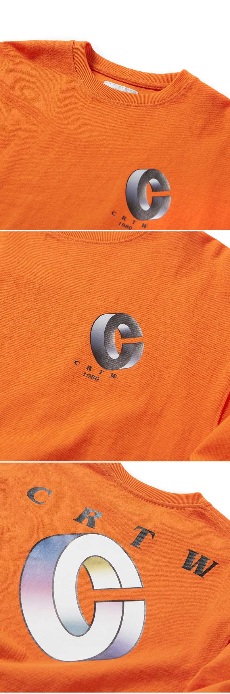 크리틱(CRITIC) CRTW 1980 LONG SLEEVE T-SHIRT(ORANGE)_CTOGPRL10UO0