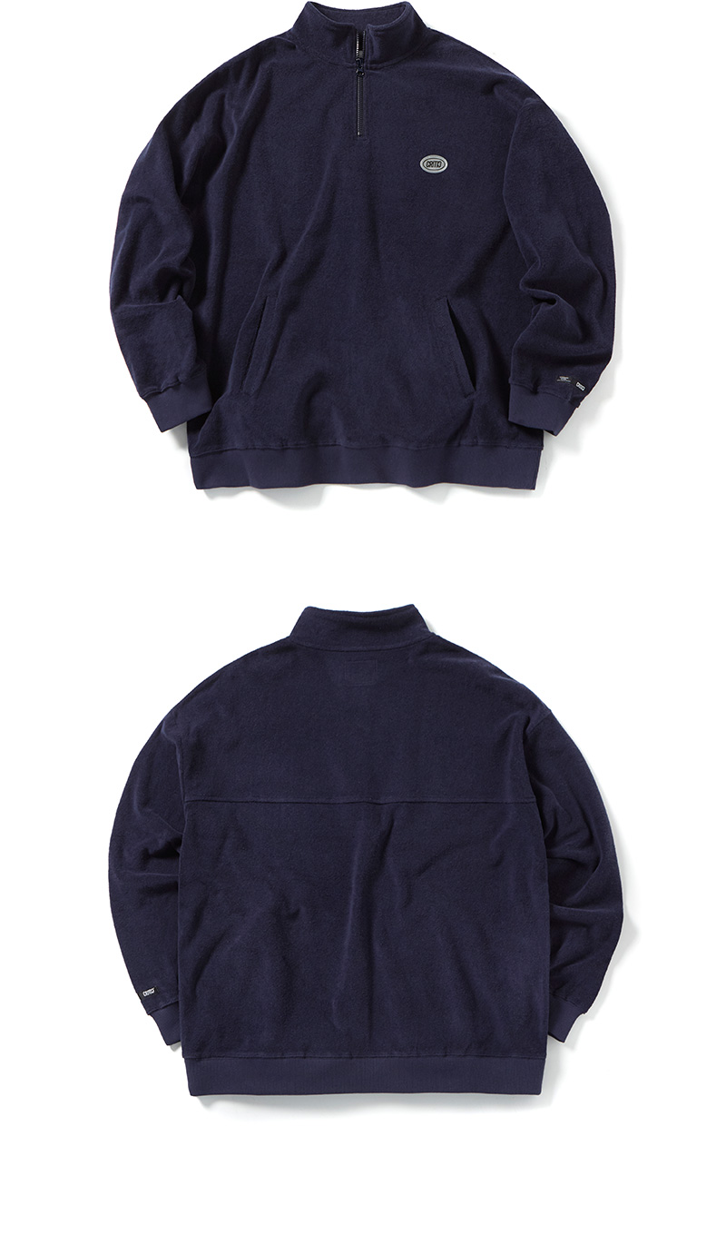 크리틱(CRITIC) TERRY HARF ZIP UP SWEATSHIRT(NAVY)_CTOGPCR04UN0