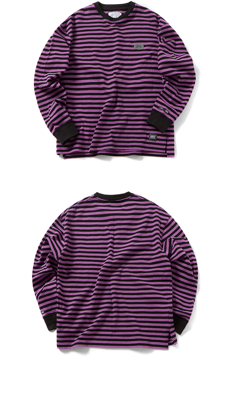 크리틱(CRITIC) STRIPE LONG SLEEVE T-SHIRT(VIOLET)_CTOGPRL09UV1