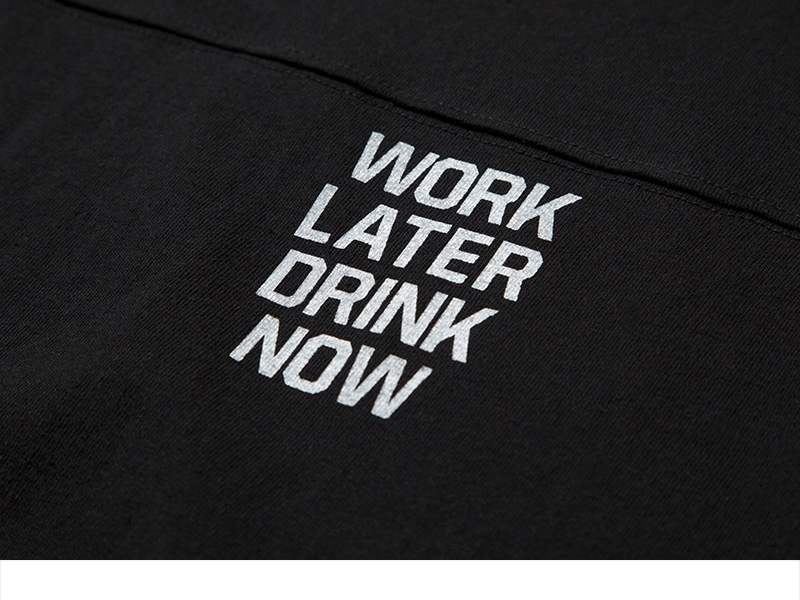 크리틱(CRITIC) WORK LATER DRINK NOW TEE (BLACK)_CMOEURS40UC6
