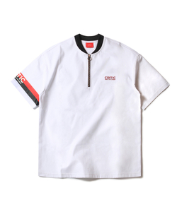 FM HALF ZIP UP TEE (WHITE)_CTOEUPS01UC2