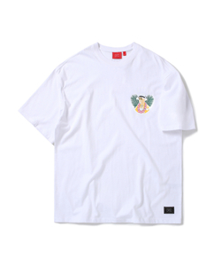 CHICKEN KILLER CIRCLE TEE (WHITE)_CTOEURS05UC2