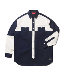 COLOR BLOCK SHIRT(NAVY)_CTOEALS01UN0