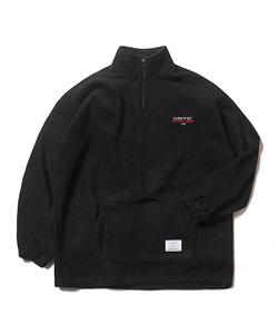 CSW HALF FLEECE ZIP UP JACKET(BLACK)_CTOEICR03UC6