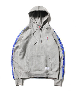 CRT SPORTS TAPED SWEAT HOODIE(GRAY)_CTOEAHD02UC4