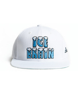 MAD PRIDE POSSE Ice Brain Snapback White