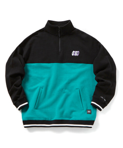 CRTW HALF ZIP-UP SWEATSHIRT(MINT)_CTOGPCR05UG3