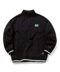CRTW HALF ZIP-UP SWEATSHIRT(BLACK)_CTOGPCR05UC6