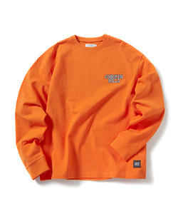 SKULL CHICKEN KILLA LONG SLEEVE T-SHIRT(ORANGE)_CTOGPRL04UO0