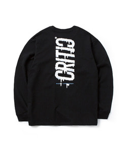 MELTED LOGO LONG SLEEVE T-SHIRT(BLACK)_CTOGARL04UC6