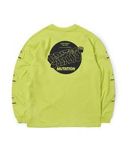 MUTATION LONG SLEEVE T-SHIRT(NEON YELLOW)_CTOGARL07UY3