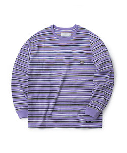 STRIPE LONG SLEEVE T-SHIRT(VIOLET)_CTOGARL12UV1