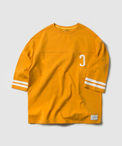 C LOGO FOOTBALL TEE (YELLOW)_CMOEURM31MY2