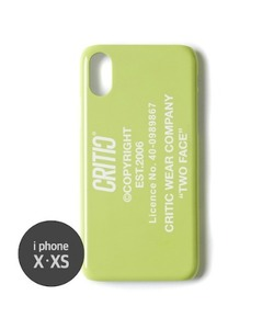 BACKSIDE LOGO MOBILE CASE(NEON GREEN)_CTONPHC01UNG