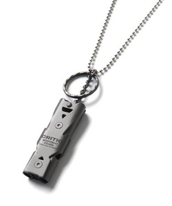 [2/27 예약 배송] CRITIC WHISTLE NECKLACE(GUN METAL)_CTONPAC01UC1