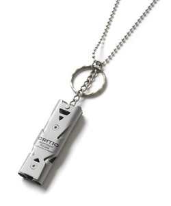 [2/27 예약 배송] CRITIC WHISTLE NECKLACE(SILVER)_CTONPAC01UC0