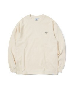CRT LOGO LONG SLEEVE T-SHIRT(CREAM)_CRONPRL01UY5