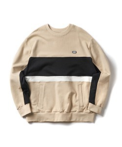 RW COLOR BLOCK SWEATSHIRT(L/BEIGE)_CTONPCR03UE3