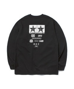 [4/1 예약 배송] TAMIYA X CRITIC SPONSOR LOGO LONG SLEEVE T-SHIRT(BLACK)_CSONURL01UC6