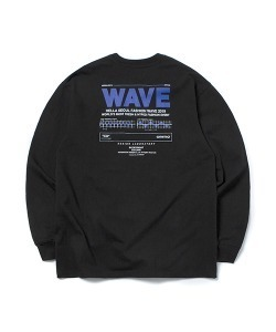 WAVE LONG SLEEVE T-SHIRT(BLACK)_CTONPRL03UC6