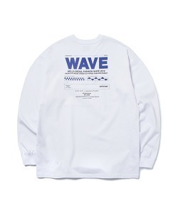 WAVE LONG SLEEVE T-SHIRT(WHITE)_CTONPRL03UC2