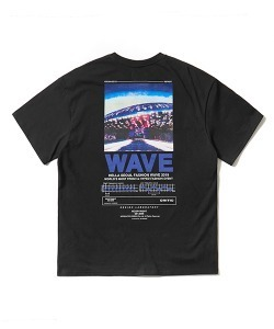 WAVE T-SHIRT(BLACK)_CTONPRS04UC6