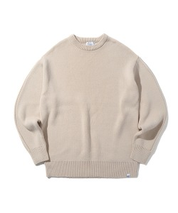 CRT ROUND NECK KNIT(CREAM)_CRONINT04UY5