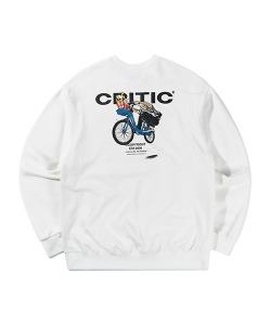 CHICKEN KILLER CITY BIKE SWEATSHIRT(WHITE)_CTTZPCR02UC2
