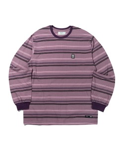 WAPPEN STRIPE LONG SLEEVE(BROWN PURPLE)_CTTZPRL05UE5