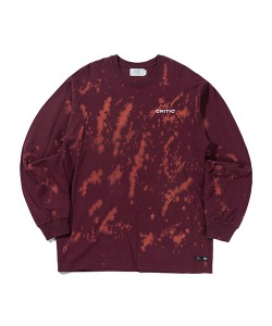 LOGO DOT DYEING LONG SLEEVE(BURGUNDY)_CTTZPRL02UP3