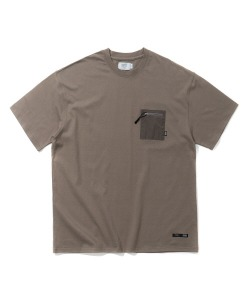 NYLON POCKET T-SHIRT(CHARCOAL)_CTTZURS32UC4