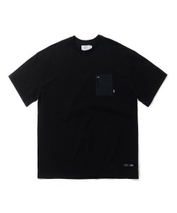 NYLON POCKET T-SHIRT(BLACK)_CTTZURS32UC6