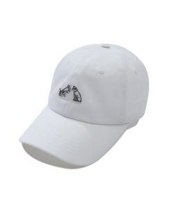 TURNTABLE DOG BALL CAP(WHITE)_CRTZUHW01UC2