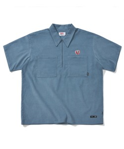 [6월 11일 예약 발송]KFC X CRITIC CORDUROY WORK SHIRTS(DEEP BLUE)_KFTZUSS01UB6