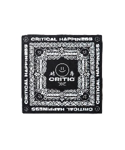 HAPPY FOOD X CRITIC LOGO BANDANA(BLACK)_HFTZUAC02UC6