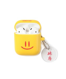 HAPPY FOOD X CRITIC SMILE AIRPODS CASE(YELLOW)_HFTZUAP02UY0