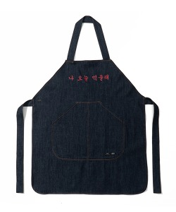 HAPPY FOOD X CRITIC CHEF APRON(NAVY)_HFTZUAC08UN1