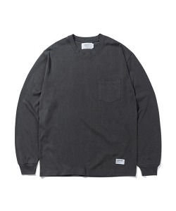 PIGMENT POCKET LONG SLEEVES(CHARCOAL)_CTTZARL06UC1