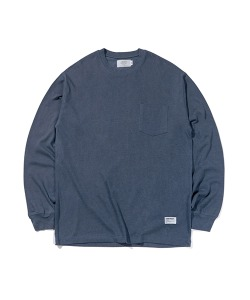 PIGMENT POCKET LONG SLEEVES(BLUE GREEN)_CTTZARL06UB7