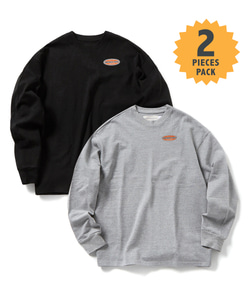 STANDARD MFG LONG SLEEVE T-SHIRT(GRAY/BLACK)_CMOGPRL31UGB