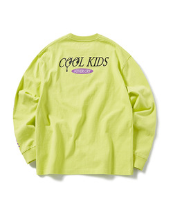 COOL KIDS LONG SLEEVE T-SHIRT(NEON GREEN)_CTOGPRL05UNG