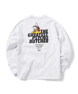 PSYCHO BUTCHER LONG SLEEVE T-SHIRT(WHITE)_CTOGPRL01UC2