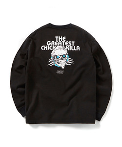SKULL CHICKEN KILLA LONG SLEEVE T-SHIRT(BLACK)_CTOGPRL04UC6