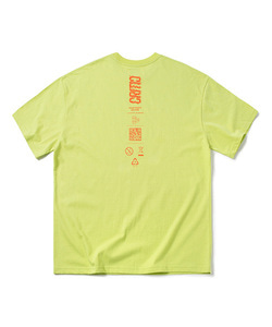 DROP LOGO T-SHIRT(NEON YELLOW)_CTOGURS18UY3