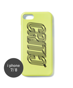 MOTION LOGO MOBILE CASE(NEON YELLOW)_CTOGUHC02UY3