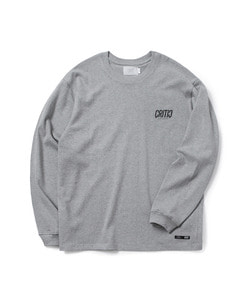 MELTED LOGO LONG SLEEVE T-SHIRT(GRAY)_CTOGARL03UC4
