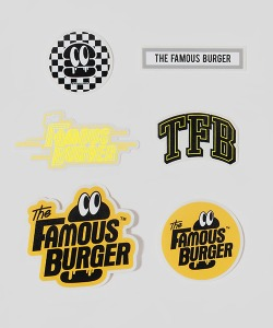 THE FAMOUS BURGER TFB Sticker Pack